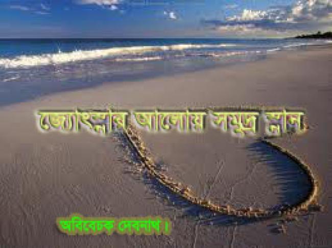 জ্যোৎস্নার আলোয় সমুদ্র স্নান